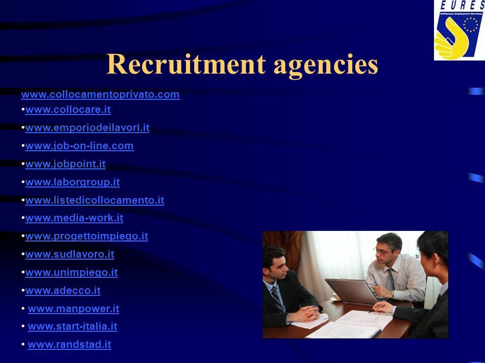 Recruitment agencies www.collocamentoprivato.com www.collocare.it