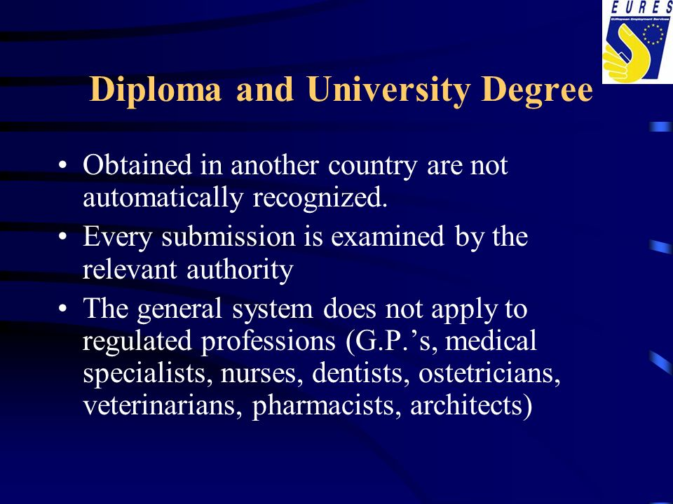 Diploma and University Degree