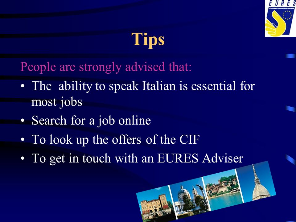 Tips People are strongly advised that: