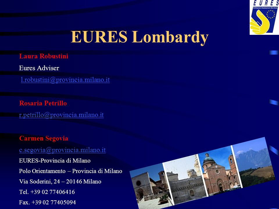 EURES Lombardy Laura Robustini Eures Adviser