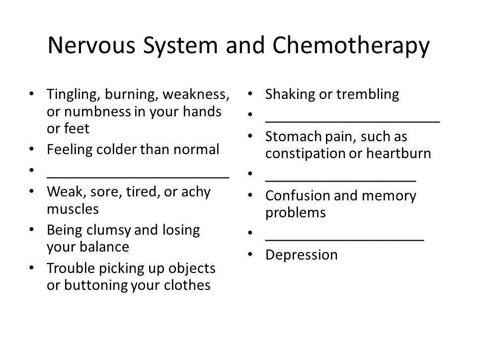 Nervous System and Chemotherapy