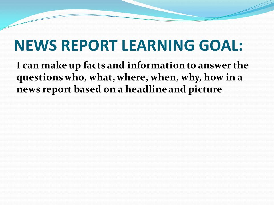how to write a news report osslt