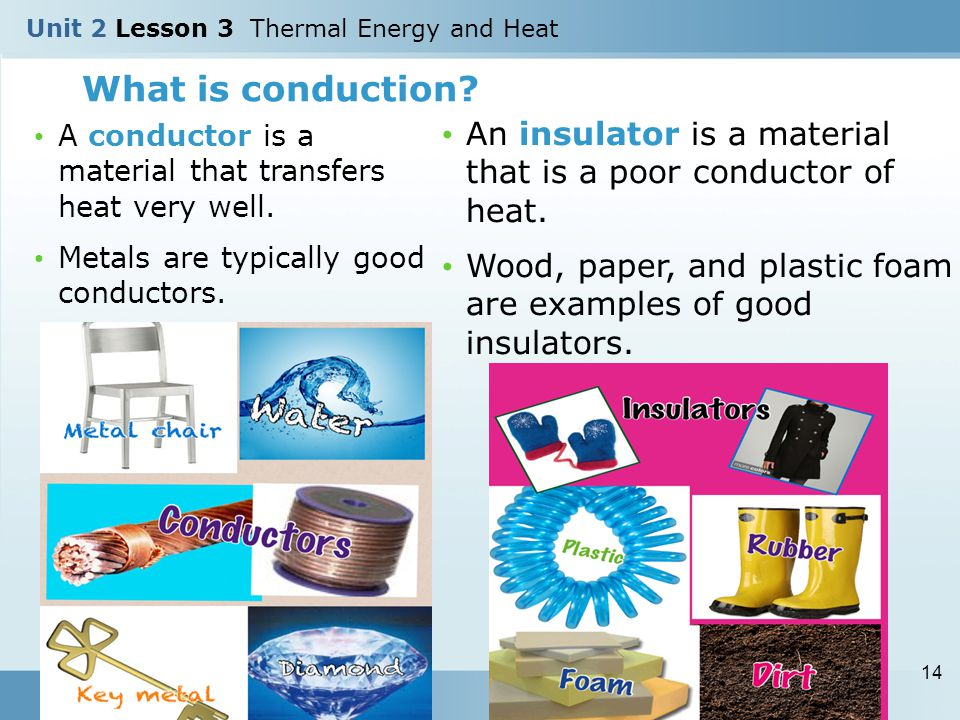 What Are Conductors : Unit lesson thermal energy and heat ppt video online