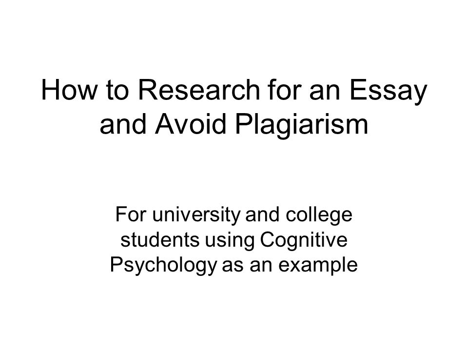 plagiarism and how to avoid it 2009 essay Taylor, d (2009) avoid plagiarism in research papers with paraphrasing and  quotations university of maryland university college retrieved.