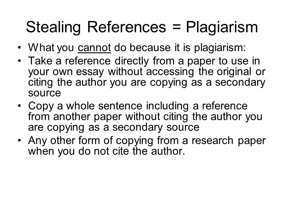 how to avoid plagiarism in a research paper Address any questions regarding plagiarism to the course instructor   information on turnitin and how you can use it to avoid plagiarism in your own  paper.
