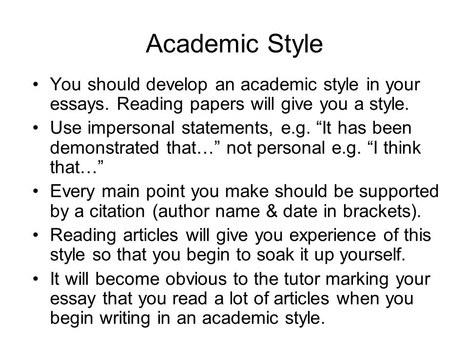 how to research for an essay and avoid plagiarism ppt video  academic style you should develop an academic style in your essays reading papers will give