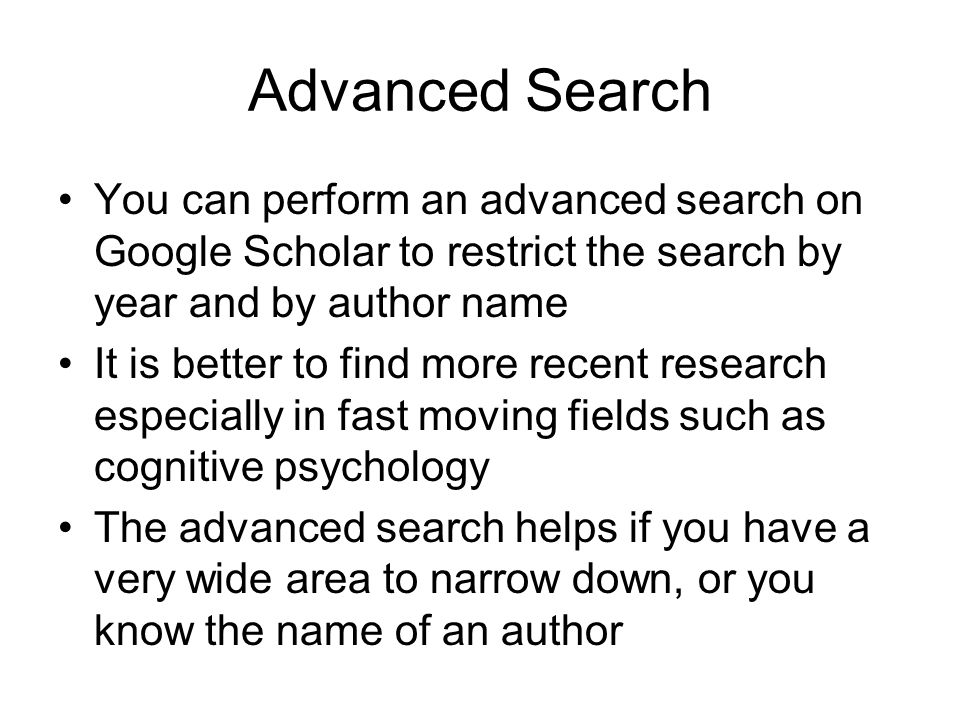 how to research for an essay and avoid plagiarism ppt video  advanced search you can perform an advanced search on google scholar to restrict the search by