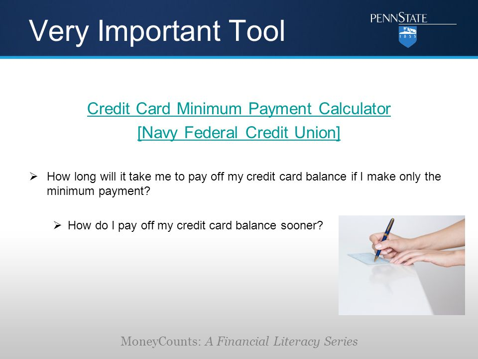 Credit Card Payment Calculator Very Important Tool Credit Card
