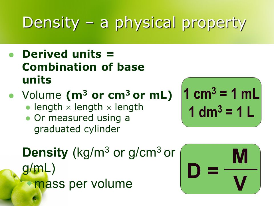 Density – a physical property