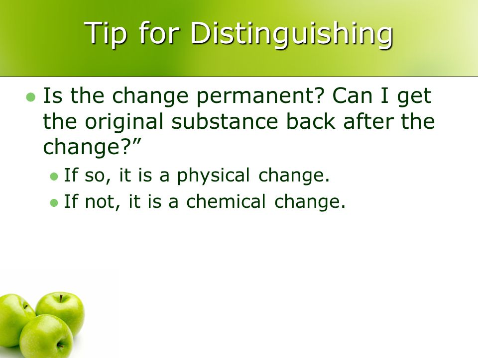 Tip for Distinguishing