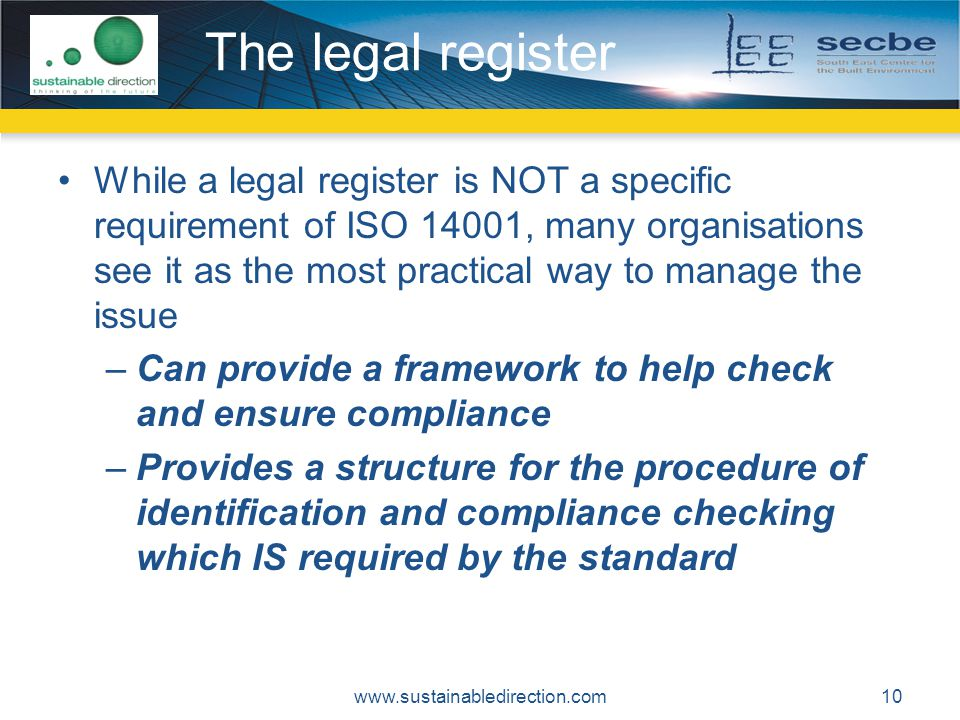 The legal register