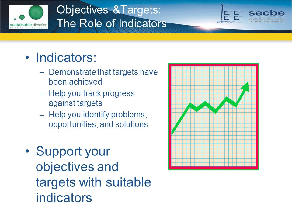 Objectives &Targets: The Role of Indicators