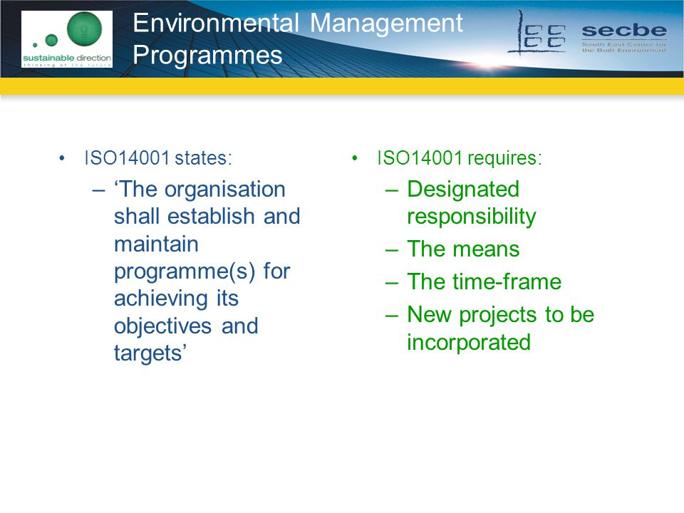 Environmental Management Programmes