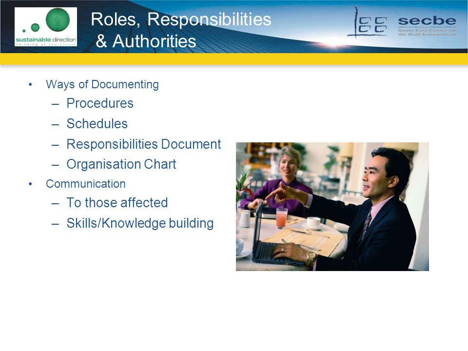 Roles, Responsibilities & Authorities