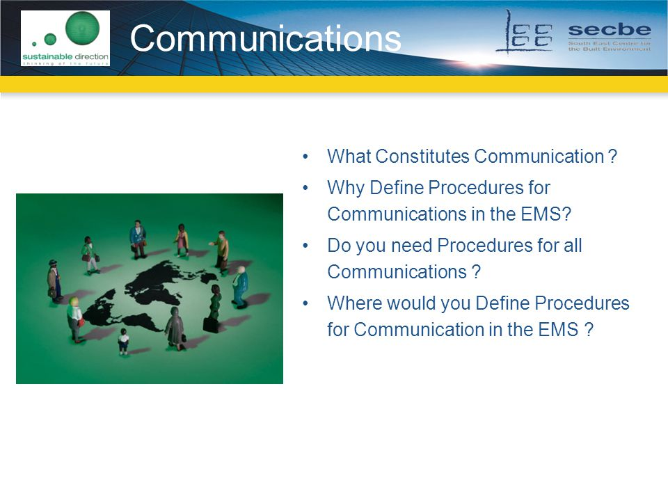 Communications What Constitutes Communication