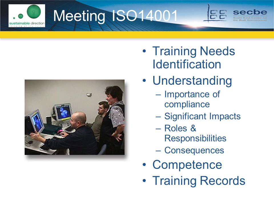 Meeting ISO14001 Training Needs Identification Understanding