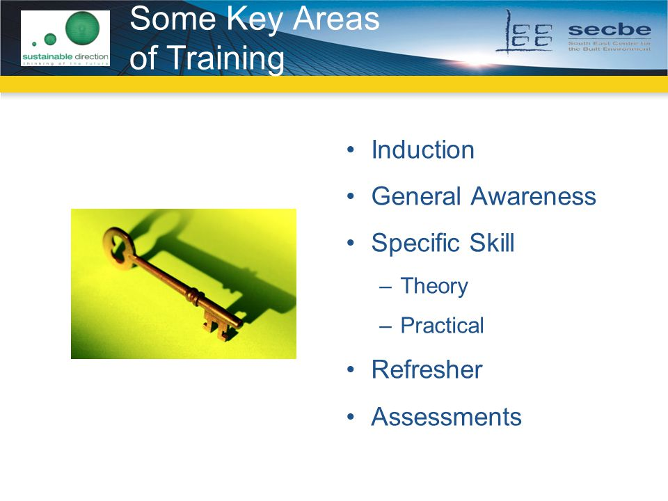 Some Key Areas of Training
