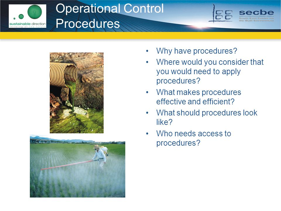 Operational Control Procedures