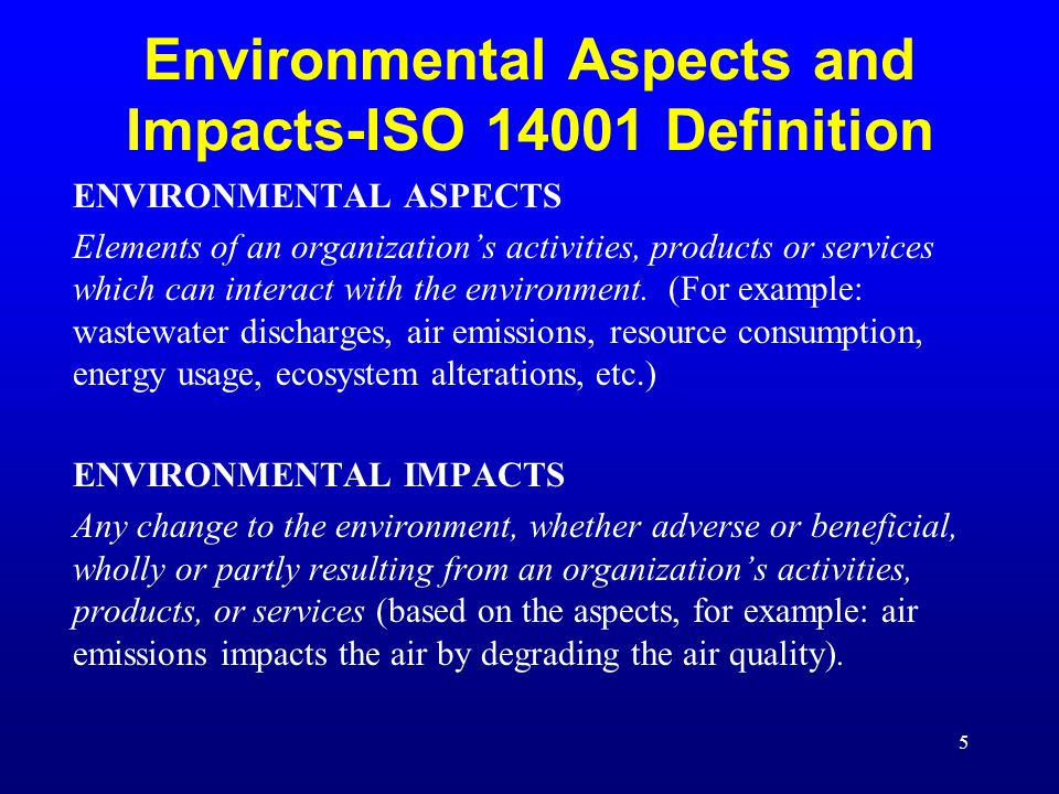 Aspects Impacts And Significant Aspects Ppt Download