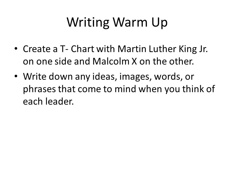 Compare and Contrast Essay- Malcolm X and Martin Luther King Jr.