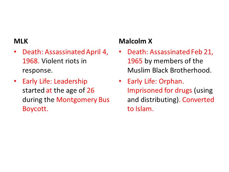 essay on martin luther king jr and malcolm x