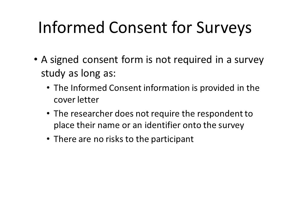 4 Informed Consent For Surveys  Survey Cover Letter