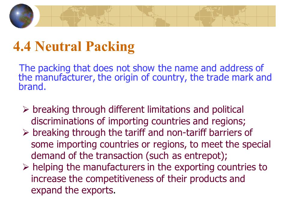 main types of non tariff barriers Non tariff barriers are the major impediment to the regional trade in saarc the larger types of obstacles were classified ie negative non-tariff barriers.