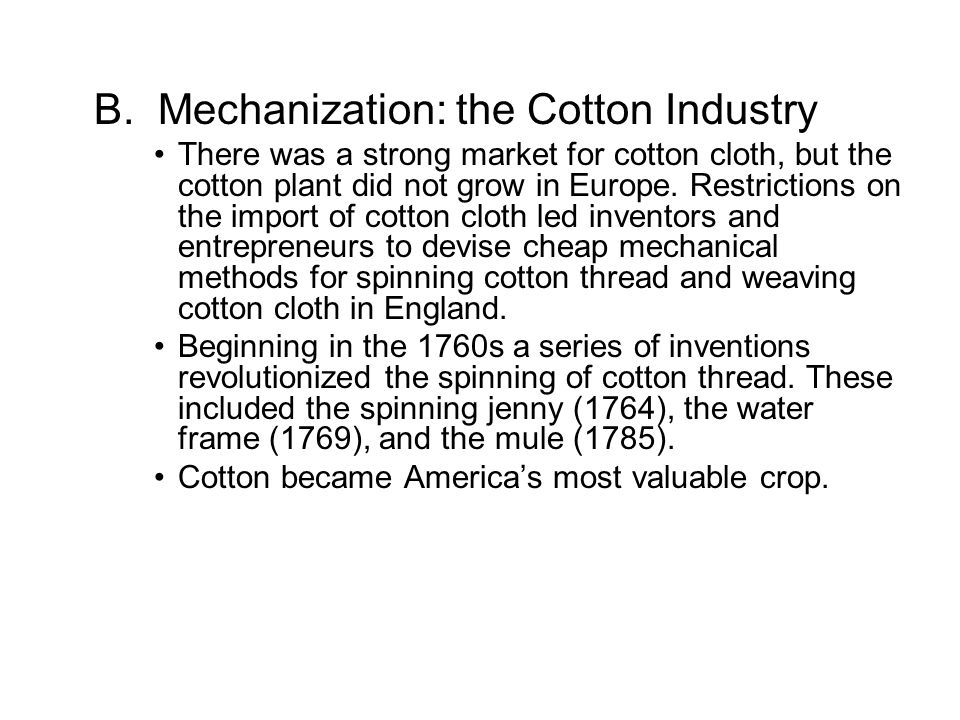 development of the mechanized cotton industry Workingpaper83-o9 / economic_ives ahdcomparativead_  a modern mechanized all-cotton  agitetated for the development of the local cotton industry.
