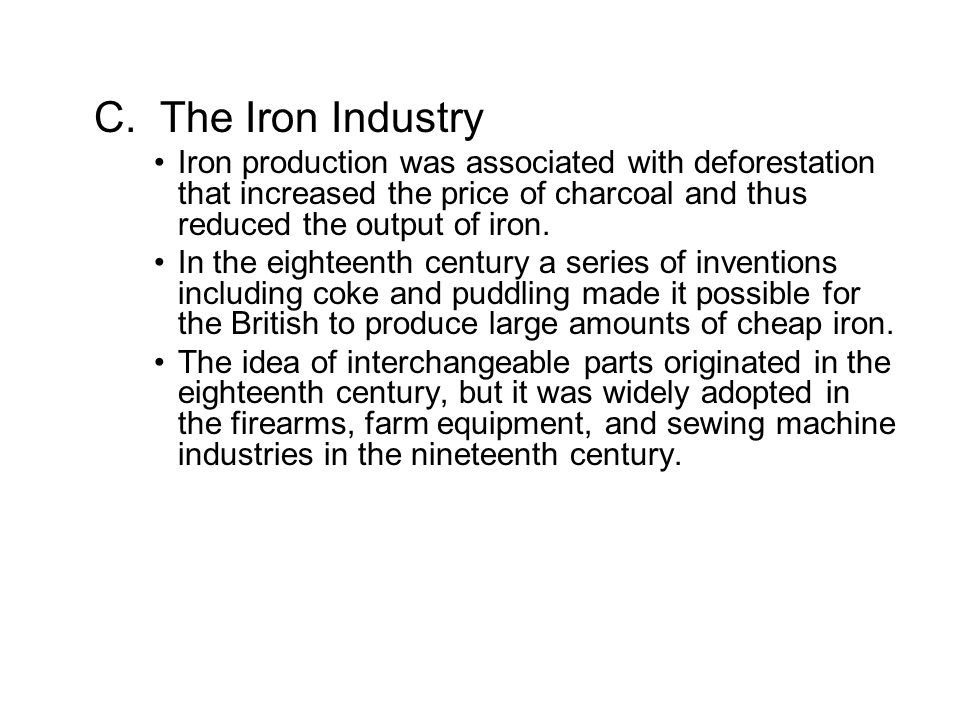 chapter 22 the early industrial revolution