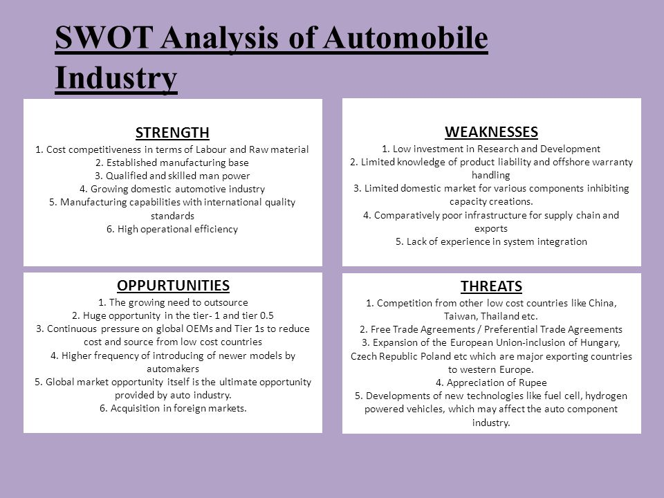 pestel analysis for the automotive industry in europe To help investors better understand ford and the automotive market,  than the two other large markets, china and europe, in recent years.