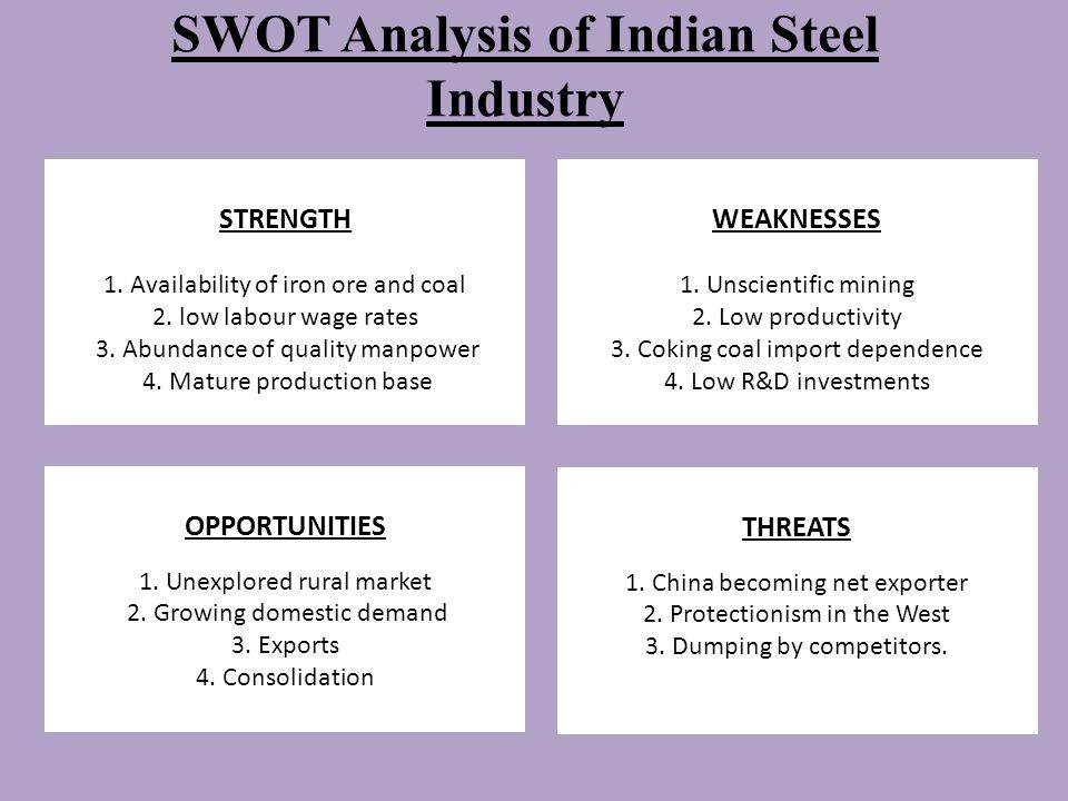 swot analysis of pakistan steel industry