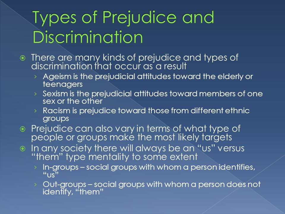 the different forms of discrimination in society