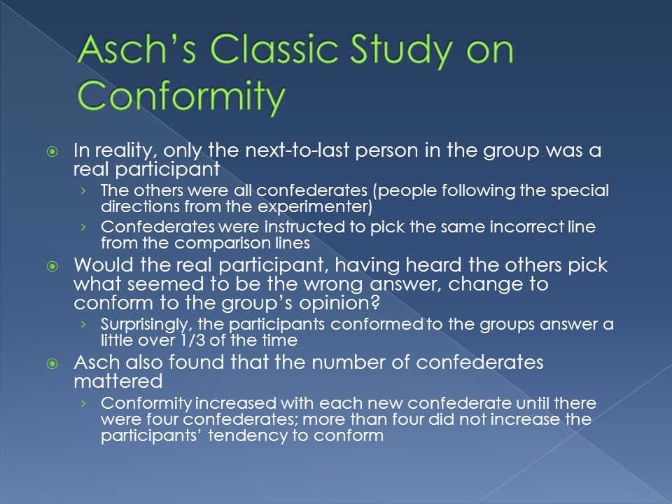 The Asch Conformity Experiments and Social Pressure