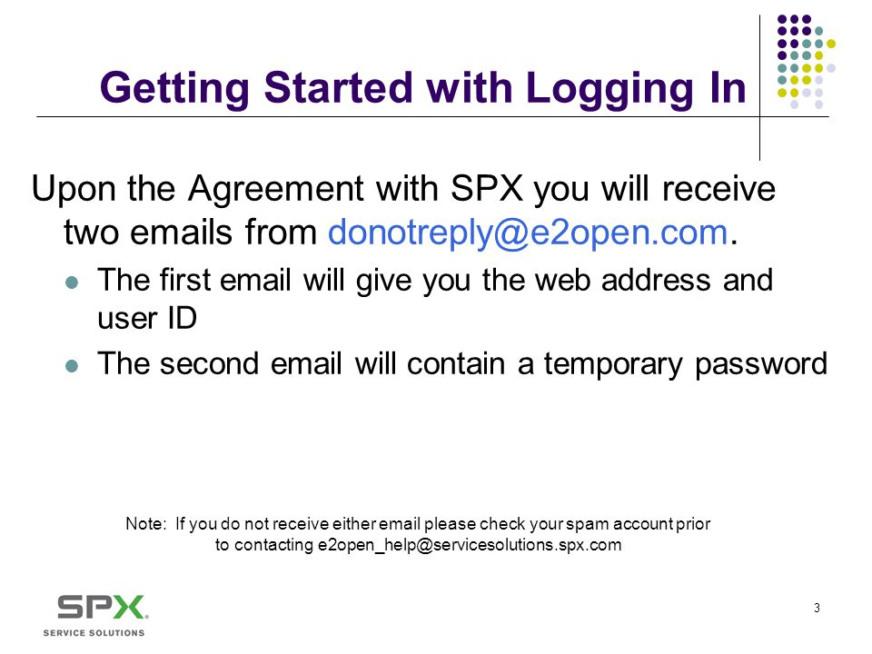 Getting Started with Logging In