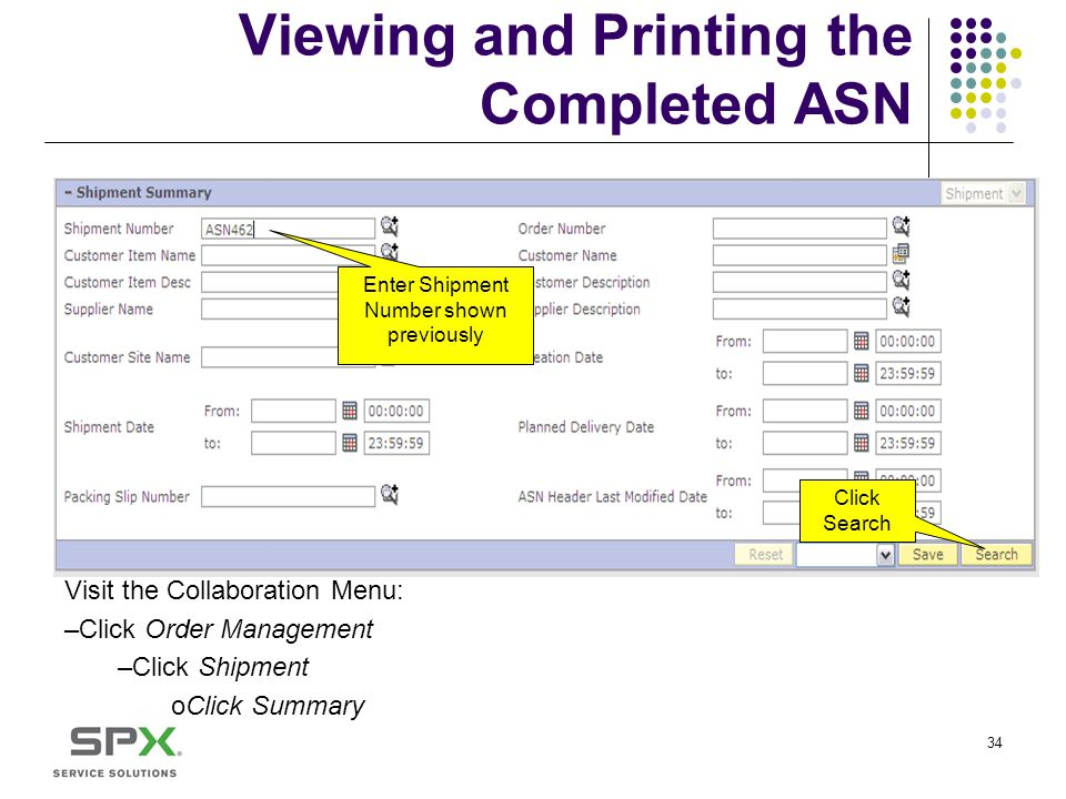 Viewing and Printing the Completed ASN