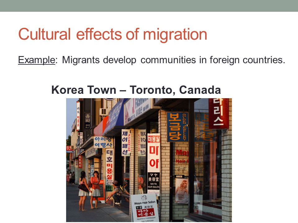 effects of migration into cities Introduction over the last 25 years, there has been little concerted effort to incorporate gender into theories of international migration yet, understanding gender is critical in the migration context.