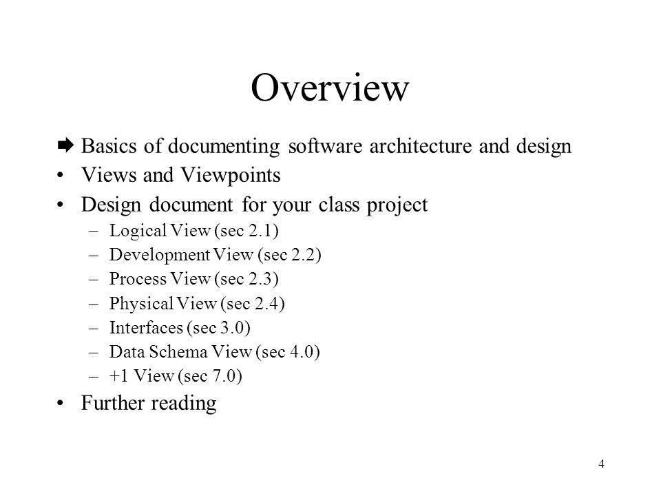 Overview Basics Of Documenting Software Architecture And Design