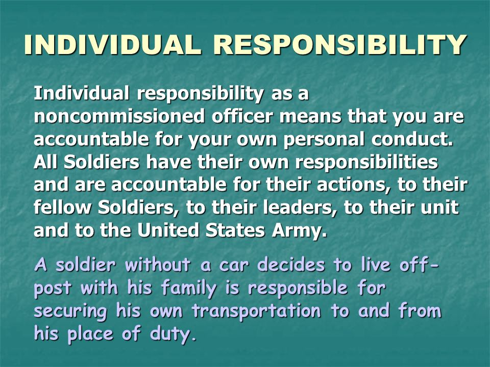duties responsibilities and authority of a nco ppt download