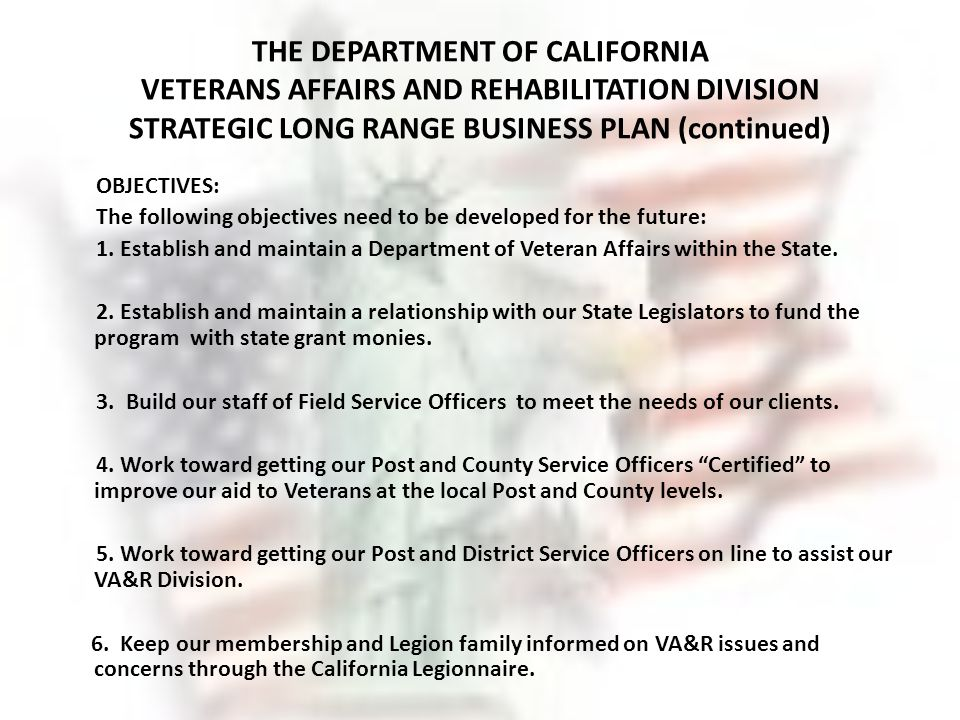 Business plan help for veterans
