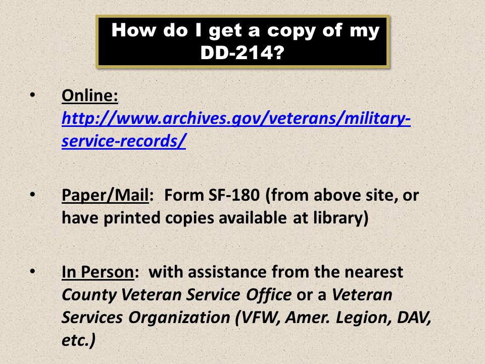 Library Volunteers Training Module 1: The Veteran - ppt video ...