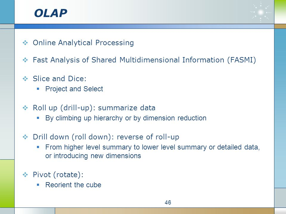 OLAP Basics. Overview of Online Analytical Processing Technology