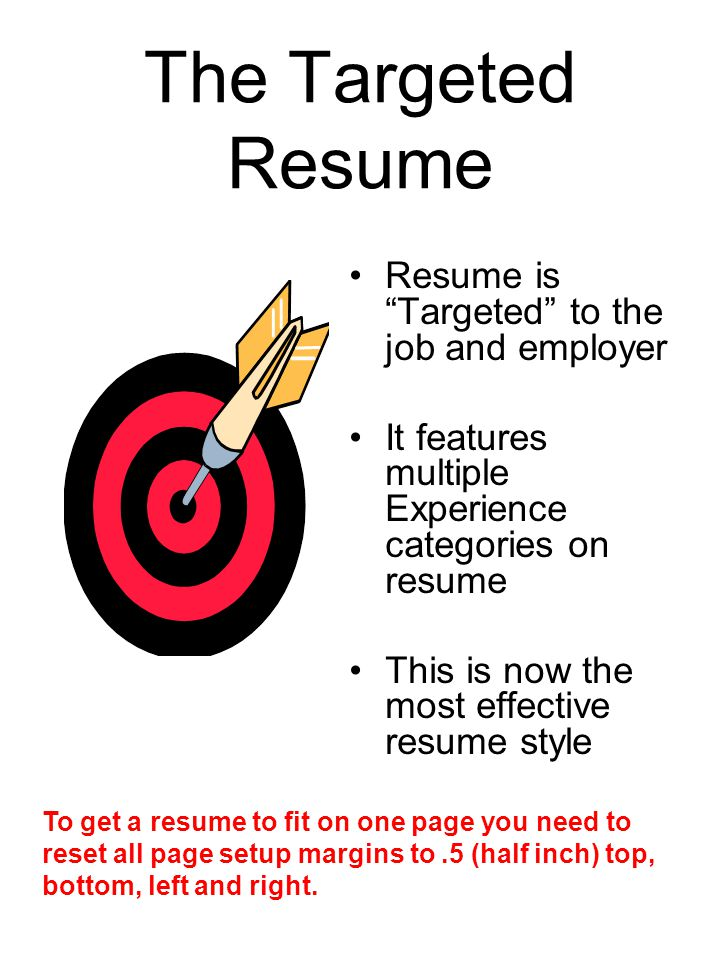 the targeted resume resume is targeted to the job and employer - What Is The Best Definition Of A Targeted Resume