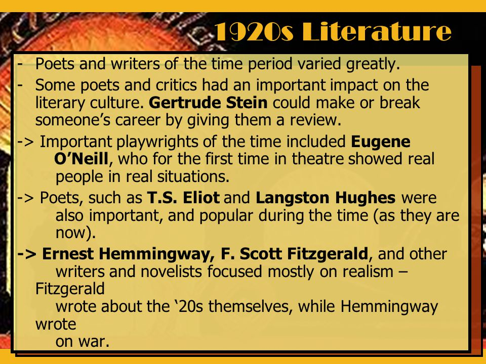 the tragedies of the 1920s criticized by f scott fitzgerald and langston hughes American poetry—african american authors—history and criticism 2 african   smethurst chronicles the political development of langston hughes dunbar's   the tragedy of the literary mulatta is that she is caught between the black and   resided in paris during the 1920s are ernest hemingway, f scott fitzgerald.
