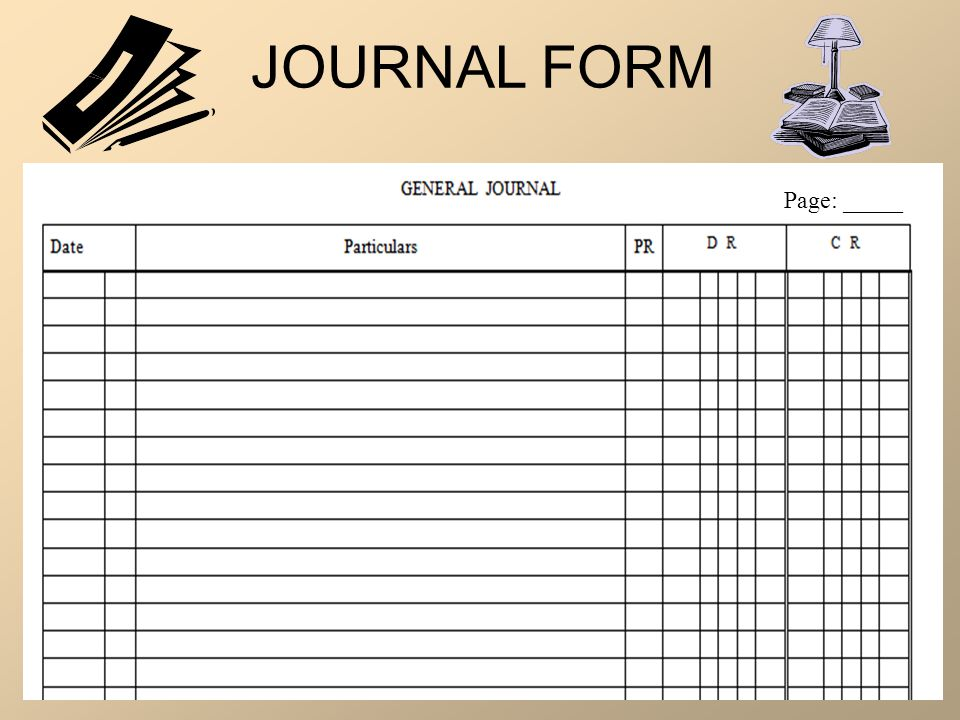 JOURNAL FORM Page: _____