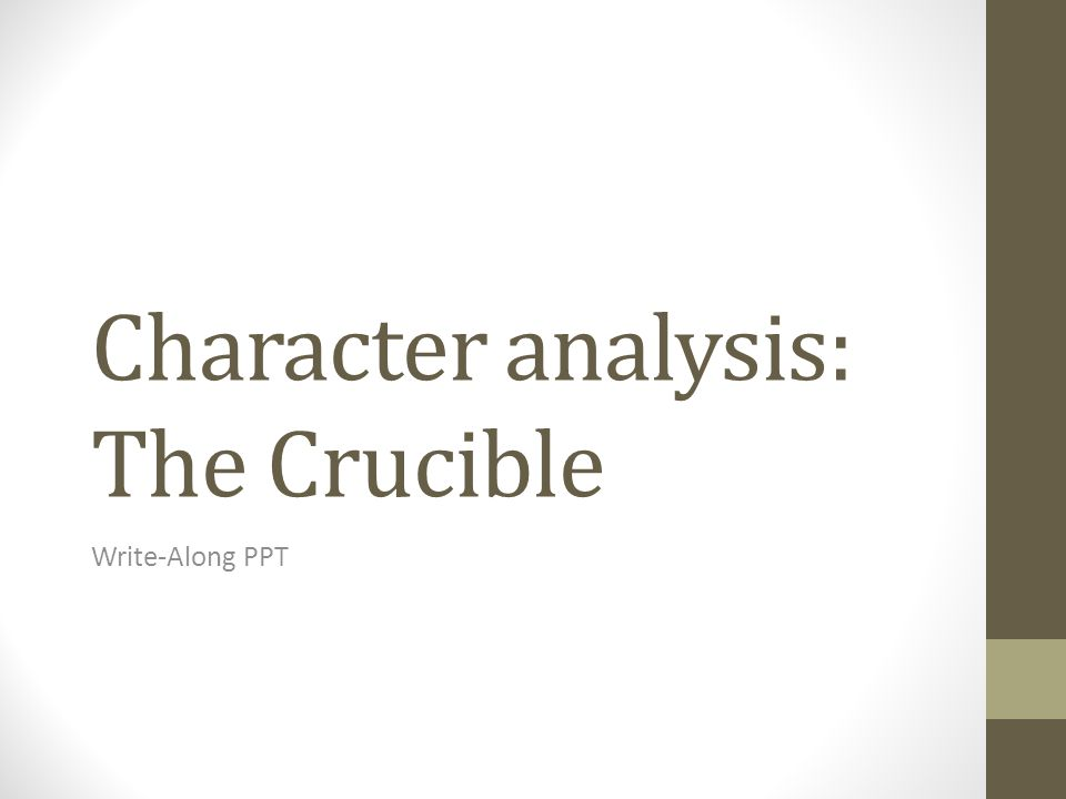 the crucible theme 5 paragraph The crucible theme essay - essays & dissertations written by top  five  outstanding thesis statements / paper, arthur miller's the crucible essays.