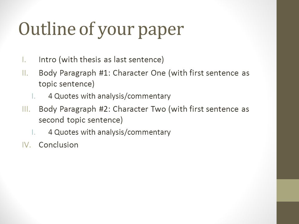 character analysis the crucible ppt  outline of your paper intro thesis as last sentence