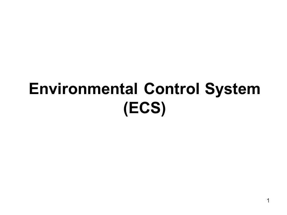 Environmental Control Systems : Environmental control system ecs ppt video online download