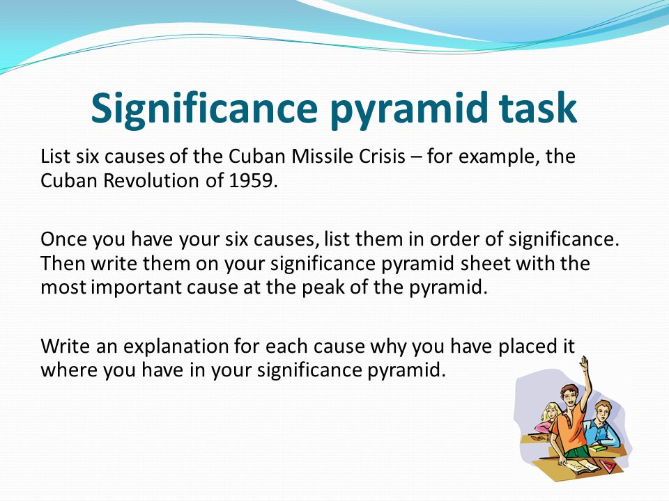 the causes of the cuban missile The cuban missile crisis took place in 1962 throughout the 1950's the cold war had been at its height with the usa and ussr stockpiling massive arsenals of nuclear weapons.