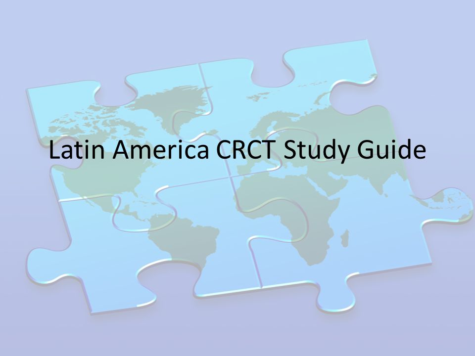 latin america study guide Find out about what it's like to study in latin america with our range of latin american country guides.