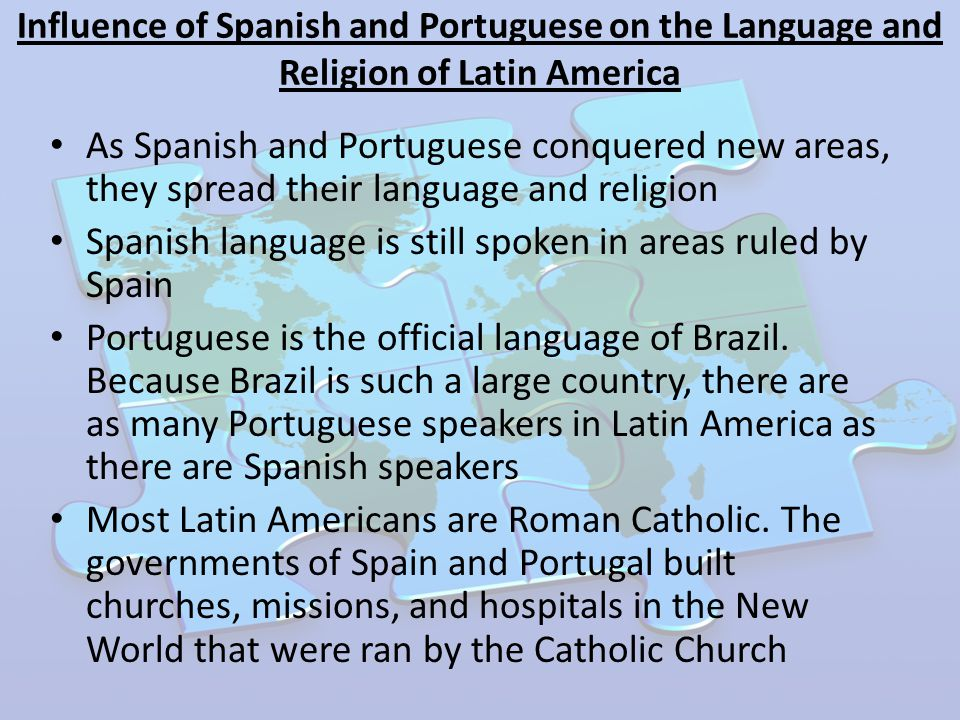 Influences on the Spanish language